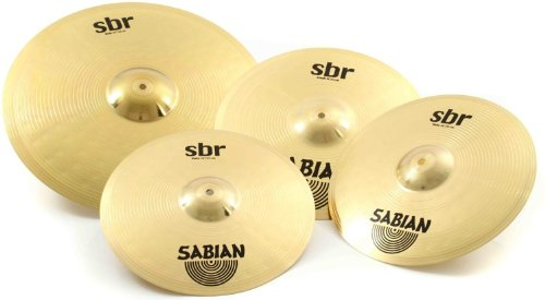 Sabian SBR Performance Pack with 14-Inch Hat, 16-Inch Crash, and 20-Inch Ride Cymbals ()