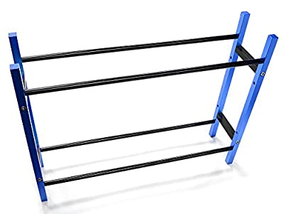 Integy RC Hobby C26924BLUE Wheel & Tire Storage Rack 10.5x2.5x8 Inch for 1/10 & 1/8 Scale