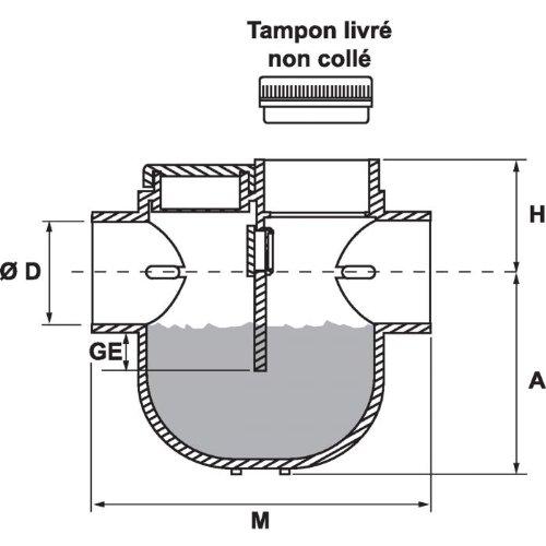 Siphon disconnecteur /Ø 100