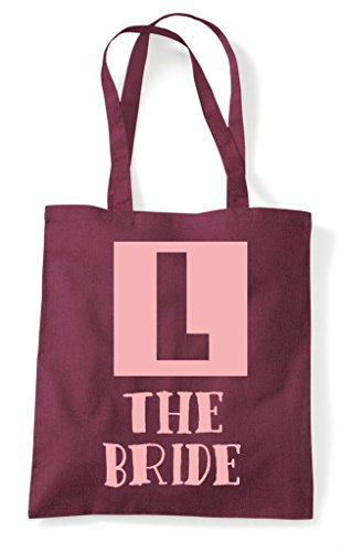 Customised Burgundy Sign Personalised Learner Bag Party Hen Shopper Dosign Tote AxzPqHqw5