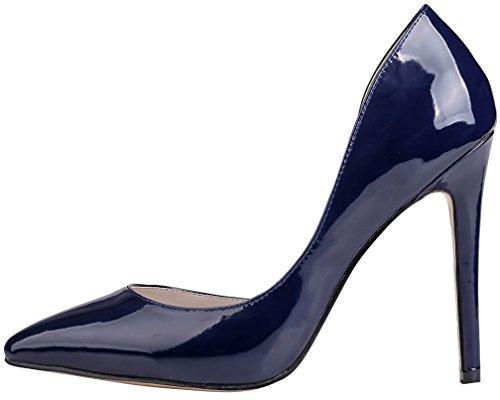 Calaier Damen Cawarm 11CM Stiletto Schlüpfen Pumps Schuhe Blau B