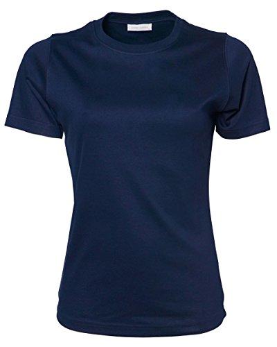 Tee Jays - Camiseta - para mujer azul marino