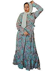 فستان صيفي قطن مناسب للمحجبات