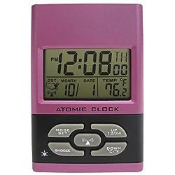 Geneva Clock Company Pink Advanced LCD Digital Alarm Clock