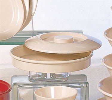 Divided Server Lid Only, 8-1/4'' Dia., Melamine, Tan, Nustone, Nsf (6 ()