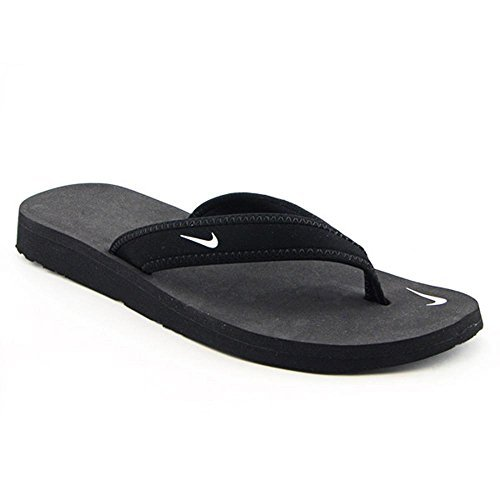 Nike Women's Celso Girl Thong Sandal, Black/White, 5