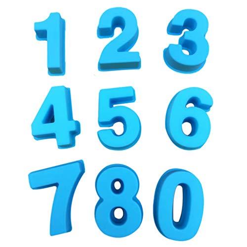 (hyioa3#mmbl Cake Mold Baking Molds Silicone Baking Number Cake Mold Baking Molds(Free Size, Blue))
