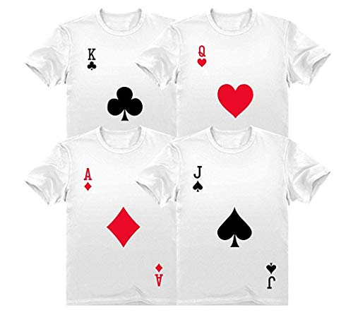 Halloween Group Costume Deck of Cards Dress-Up Easy Halloween Shirts Costume Set]()