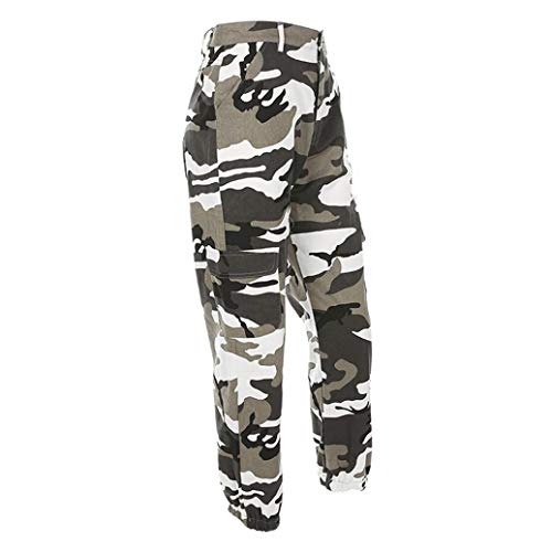 (Faionny Women Camouflage Jeans Sports Camo Cargo Pants Outdoor Casual Print Trousers)