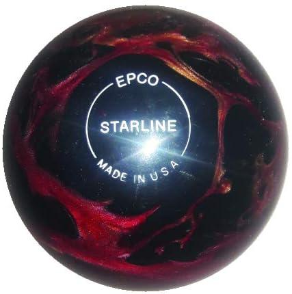 EPCO キャンドルピン ボーリングボール - スターライン - ワイン、ブロンズ&ブラックパール シングルボール  4 1/2 inch- 2lbs. 6oz.