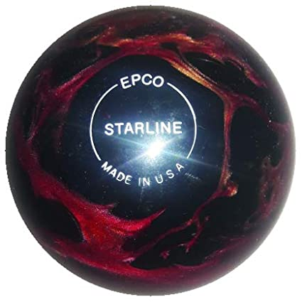 EPCO Candlepin Bowling Ball- Starline - Wine, Bronze & Black