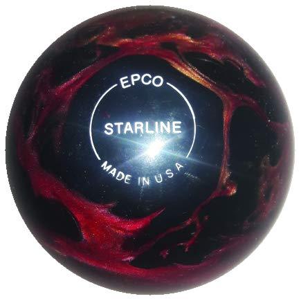 EPCO-Duckpin-Bowling-Ball-Starline-Wine-Bronze-Black-Pearl-Single-Ball