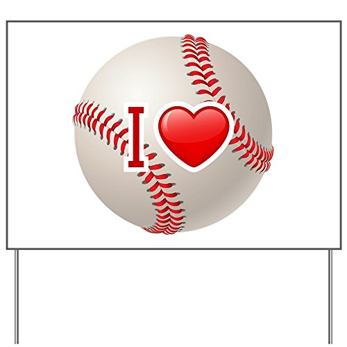 Yard Sign I Love Baseball Red Sox Cubs