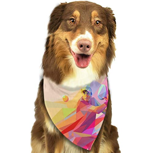 Pet Scarf Dog Bandana Bibs Triangle Head Scarfs Tennis Ball Man Accessories for Cats Baby Puppy]()