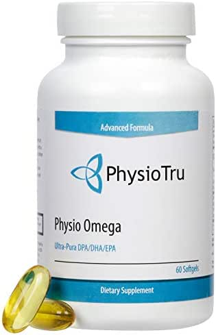 Physio Omega 3 DPA, DHA, EPA Wild Caught Pure Menhaden Fish Oil Supplement, 60 Softgels (4 Pack)