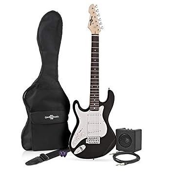 Guitarra Eléctrica LA 3/4 Zurda + Mini Amplificador - Negro: Amazon.es: Instrumentos musicales