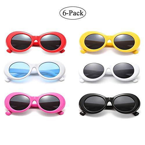 1bbce76521d8f Retro Oval Mod Thick Frame Clout Goggles Kurt Cobain Sunglasses (6-color)