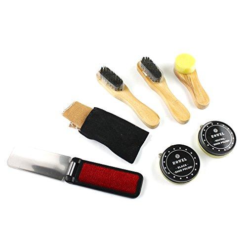 eBuyGB Shoe Shine Polish Kit in Travel Case - 8 Piece Brush Kit (Black and Neutral) by eBuyGB (Image #2)