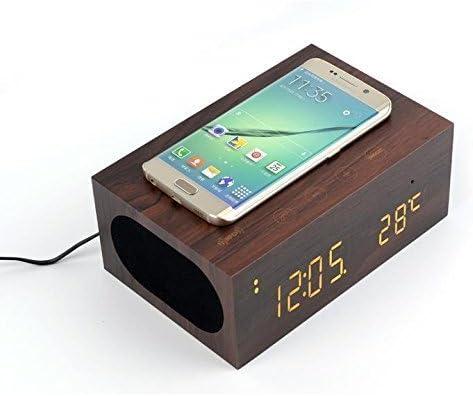 Multifuncional Wooden estéreo Altavoz Bluetooth, EZ buy Qi ...