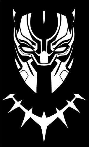 Cci Cci1627 Vinyl Aufkleber Motiv Black Panther Maske Für Autos Lkws Lieferwagen Wände Laptops 16 5 X 10 8 Cm Weiß Küche Haushalt
