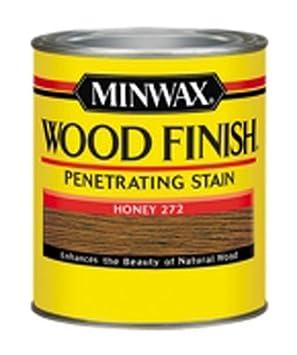 Minwax 227624444 Wood Finish Penetrating Interior Wood Stain, 1/2 pint, Honey