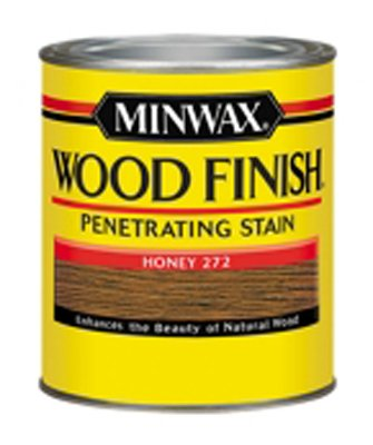 Stain (Minwax 227624444 Wood Finish Penetrating Interior Wood Stain, 1/2 pint, Honey)