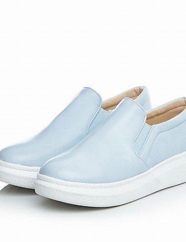 Zapatos blue y us9 Planos Trabajo 5 8 eu41 us9 Punta gyht blue cn42 5 Azul 5 Negro Plataforma Oficina Semicuero 10 mujer de Mocasines 10 eu36 uk3 5 cn35 5 blue uk7 Redonda ZQ Vestido Casual us5 T5vwP