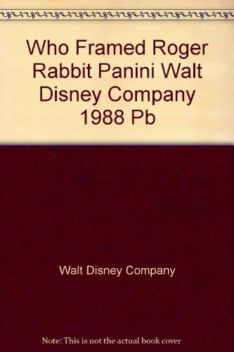 Who Framed Roger Rabbit Panini Walt Disney Company 1988 Pb