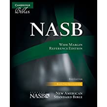 NASB Wide Margin Reference Bible, black calfsplit leather, red letter text: NS744:XRM