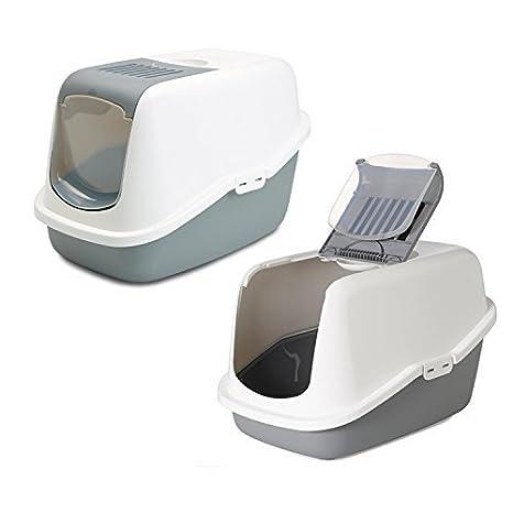aseo para Gatos Savic Nestor en el 2 Pack gris/blanco: Amazon.es: Productos para mascotas