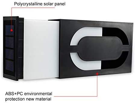 Solar Digital Doorplate Lamp LED Solar Light Waterproof,Eye-catching Solar Power LED Light Number Digits Plate Sign House Hotel Door Address Plaque