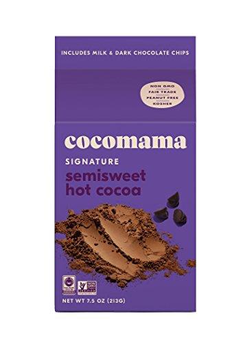 (Cocomama Signature Semisweet Hot Cocoa - Milk & Dark Chocolate Chips, Organic Fair Trade Cocoa Powder, Non-GMO, Kosher, 7.5 oz)