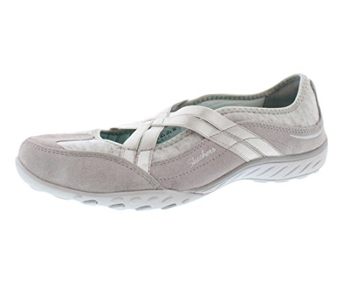 Skechers Sport Women's Lay Low Fashion Sneaker,Light Grey,5.5 M US
