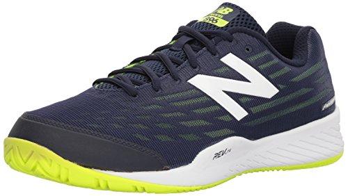 Cheap New Balance Men's 896v2 Hard Court Tennis Shoe, Navy, 11 D US