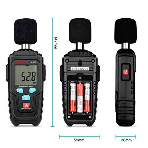 Decibel Meter Digital Sound Level Meter MESTKE 30 – 130 dB Noise Volume Measuring Instrument Reader Self-Calibrated Max Min Data Hold Fast/Slow Mode LCD Backlight Display/Flashlight by MESTEK (Image #9)