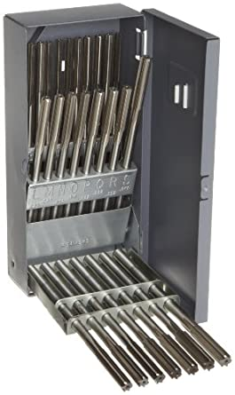 Alvord Polk 127-S-16 High-Speed Steel Chucking Reamer Set, Straight Flute, Uncoated Finish, 26-Piece, A -Z Letter Sizes