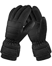 Fazitrip Winter Gloves, Mens Running Gloves, 90% Down Mittens, Lightweight Windproof, Extremely Warm Soft Wear, Ideal for Cycling Driving and Outdoor Activities