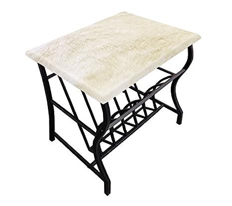 Amazon.com: Acento mesa auxiliar con revistero y un marco de ...