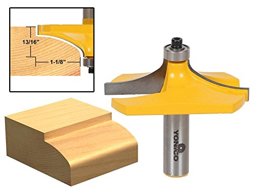 Yonico 13141 Thumbnail Table Edge Router Bit with Large 1/2-