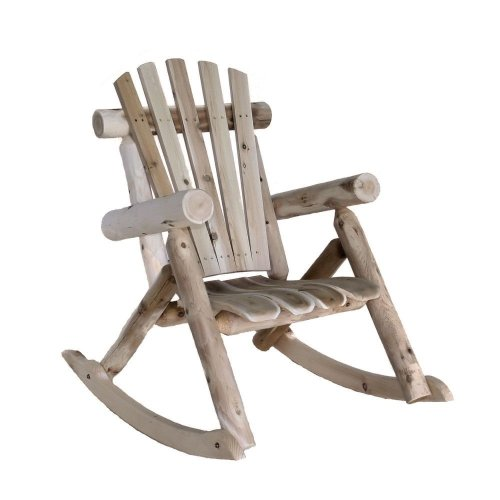 (Lakeland Mills Cedar Log Rocking Chair, Natural)