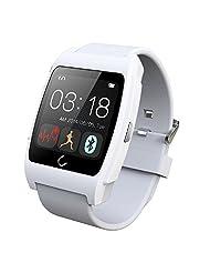Lolipp Sleep Heart Rate Monitor Waterproof Bluetooth U Watch for Android Smart phone White