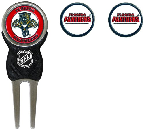 Team Golf NHL Florida Panthers Divot Tool with 3 Golf Ball Markers Pack, Markers are Removable Magnetic Double-Sided Enamel