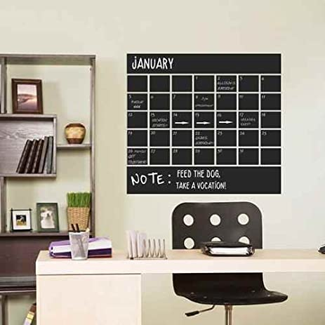 Amazing Monthly Chalkboard Calendar Wall Decal Note Sticker Calendar Blackboard  Wall Decal Planer Vinyl Art Quote(