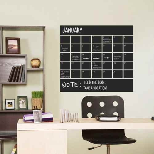 monthly chalkboard calendar wall decal