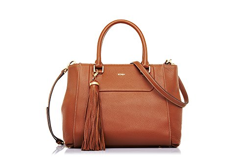 bonia-womans-brown-soft-satchel