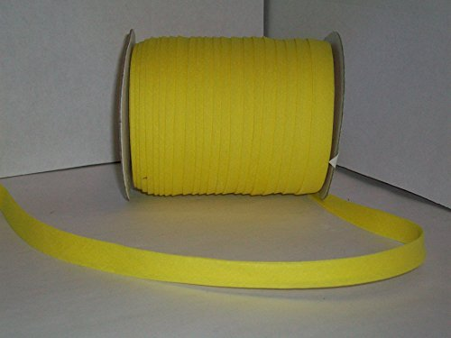 Yellow Double Fold Bias Tape 50 Yds. 1/2 Inch
