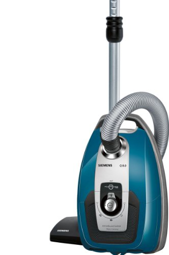 Siemens VSQ8SEN72C Bodenstaubsauger Q8.0 Power Sensor mit Hartbodendüse EEK A (powerSensor Technolog, XXL Staubbeutelvolumen, Hochleistungs-Hygienefilter) petrol