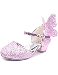 Toddler Girls Low Hele Ankel Strap Wing Princess Shoe Cosplay Dance Shoes