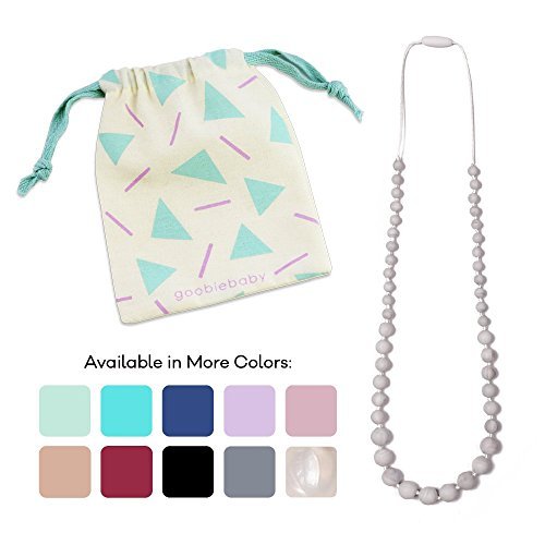 Goobie Baby Audrey Silicone Teething Necklace for Mom to Wear, 100% Safe Silicone (Teething Necklace, Marble)