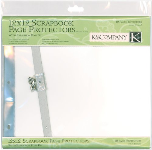 K&Company Post Bound Page Protectors Drawing Pad, 12 by 12-Inch, 10-Pack